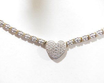 Sterling Silver Diamond Illusion Necklace