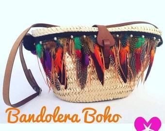 BandoleraPlumas Boho with black wires