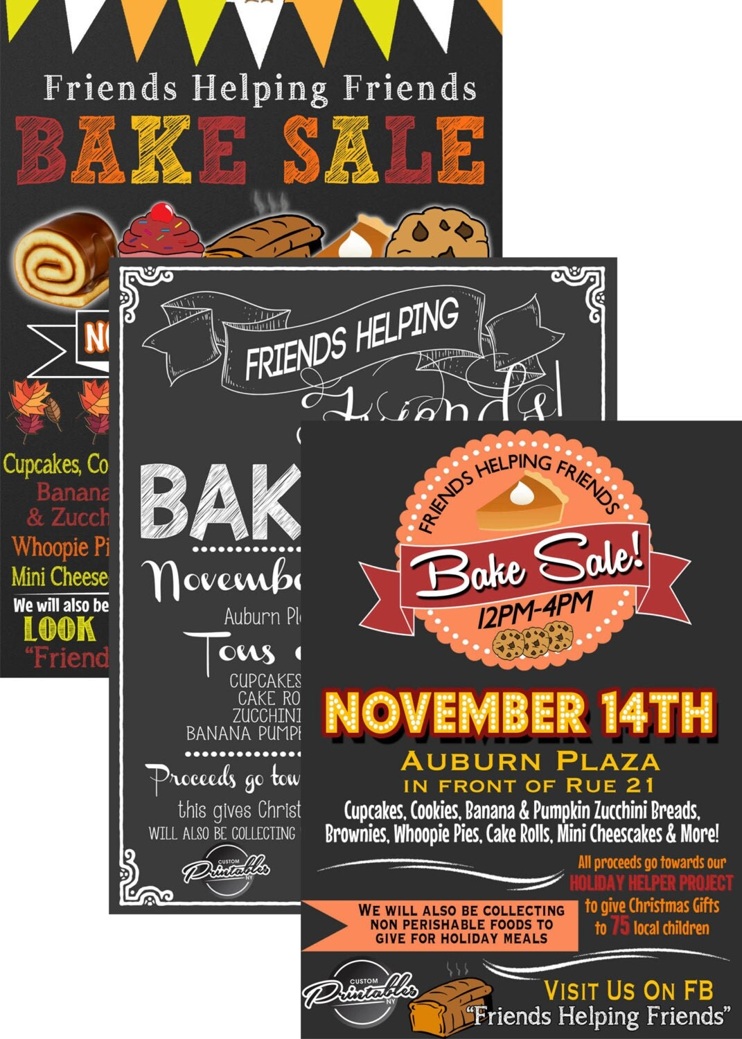 bake flyer bake invitation fall bake 128270zoom