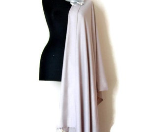Stone Color Wedding Shawl, Dusty Purple Wrap, Taupe Bridal Shawl, Christmas Gift, Elegant Wrap, Bridesmaid Gift, Flower Pin, New Year Gift