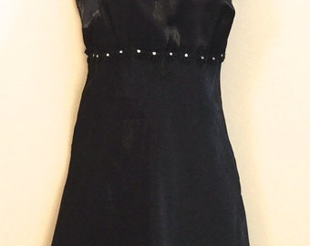 A 90's Black Chiffon Mini Dress                     VG144