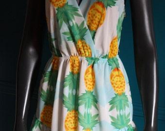 Romper jumpsuit printed pineapple