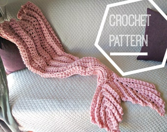 Crochet Mermaid Tail Blanket Pattern, Adult Mermaid Blanket Pattern Crochet, Crochet Mermaid Tail Pattern, Mermaid Blanket Crochet Pattern