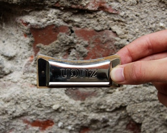 Vintage Harmonica - Zuch Melodia Harmonica - Tiny Mouth Organ Harmonica - Musical Mouth Instrument - Polish Harmonica - Birthday Gift