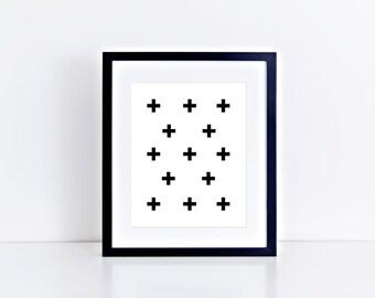 Plus Pattern : Printable Wall Art, Nursery Art, Kids Wall Art, Instant Download, Printable Art