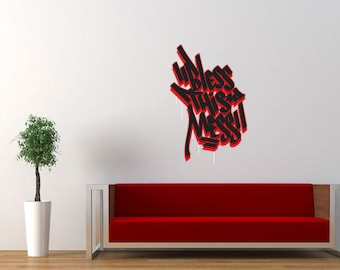 "Graffiti Wall Decal ""Bless This Mess"""