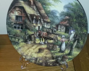 """Wedgwood plate, limited edition, country edition, """"the apple pickers"""", fine bone china"""