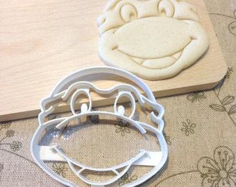 TMNT Teenage Mutant Ninja Turtles Cookie Cutter - Fondant Icing Cake Cupcake Topper Iced Sugar Cookies Biscuits Mould Boys Birthday Party