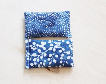Batik Lavender Sachets - Ethnic Home Decor - Organic Drawer Sachets - Cobalt Blue