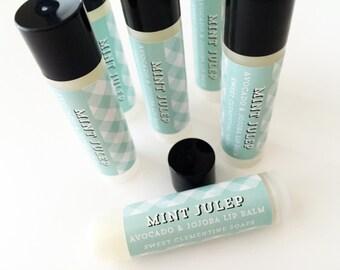 Mint Julep Lip Balm - Moisturizing Avocado and Jojoba Oil Lip Balm