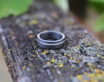 Antler and Carbon Fiber Ring - Naturally Shed Deer Antler