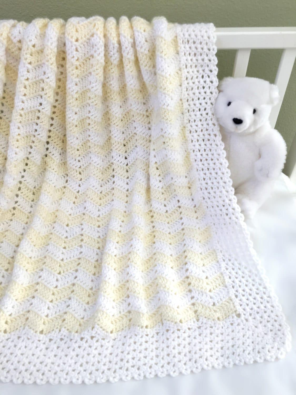 Easy Ripple Crochet Baby Blanket Pattern : Crochet Baby Blanket Pattern Easy Ripple by ...