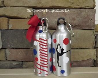 Dance Team Gifts, Dance Gifts, Dance Water Bottle, Ballet Water Bottle, Ballerina Gift, Custom Water Bottle, Dance Teacher Gift