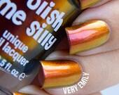 Dynamite-Mega Multichrome Multi-Color Shifting Polish:  Custom-Blended Glitter Nail Polish / Indie Lacquer / Polish Me Silly