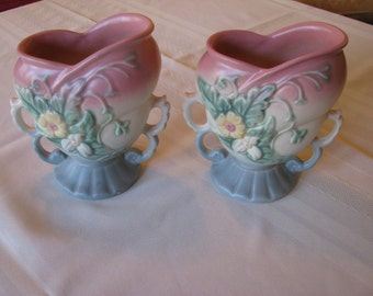 Vintage Hull Art Vases in the Wildflower pattern