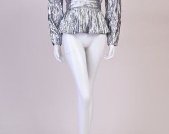Vintage Radley Top in Silver Metallic from the 1980s