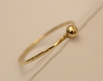 14k Ball Ring, 14k Ball Ring, 14k Beads Ring, 14k Thumb Ring, 14k Toe ring, 14k Knuckle ring, 14k Gold Ring, 14k Stackable Ring