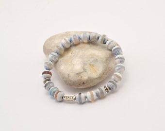 Dzi agate bracelet, agate bracelet, natural stone bracelet, semi precious stones, beaded bracelet, stone jewelry, agate jewelry, jewellery
