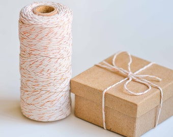 Copper/Natural Cotton Baker Twine - 100m