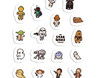 Star Wars ~ The Empire Strikes Back ~ Sticker Sheet 70mm x 100mm