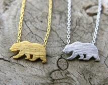 SALE- California Bear Necklace, Dainty Necklace, Simple Necklace, Everyday Necklace, Bridesmaids Necklace