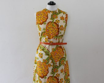 60's GROOVY Mini Spring Floral Shift Dress