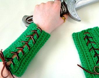 Woodland Elf Cosplay Costume | Archery Bracer | Halloween Ideas | Elf Armor | Elven Clothing | LARP Armor | Wrist Cuff | Arm Bracers