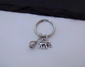 Elephant Keyring, Charm Keyring, Elephant Keychain, Elephant Gift, Gift For Her, Elephant Charm, Keyring
