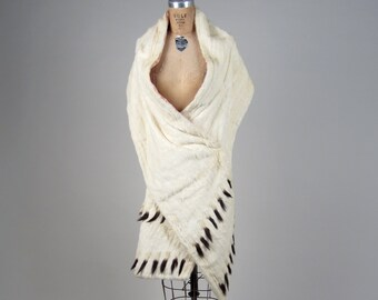 1900s RARE ermine fur scarf • vintage 20s shawl • royal status scarf