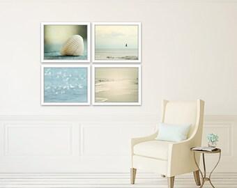 beach prints, coastal wall art, set of 4 photos, beach decor wall art, coastal photography, ocean art, gallery wall set, beach house art