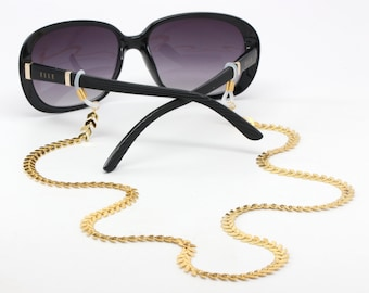 Trendy Eyeglass Chains with Arrows - Modern Gold Glasses Chain - Eyeglass Neck Chain - Gold Chain to Hold Glasses - Eyeglass Holder Necklace