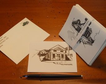 Morristown Houses Thank You Greeting Note Cards