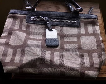 Vintage Nine West handbag, Nine West purse, Brown handbag, brown and tan purse, gift for her, Vintage Designer handbag