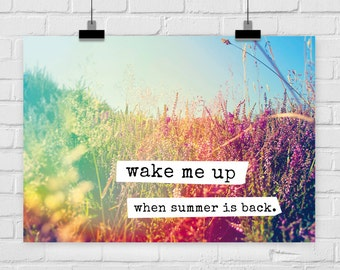 fine-art print poster WAKE ME UP summer