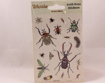 Vintage Triazzle 2 Sheet Sticker package. Bugs