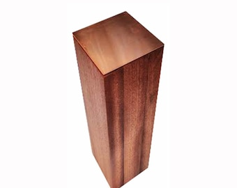 Magnetic Knife Block Holder - Sapele Wood - Handmade