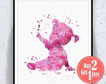 BIG SALE: Boo Disney Print, Boo Monsters Inc, Boo Print Watercolor Artwork, kids room decor, disney nursery, disney Illustration, Boys Wal