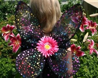 Rainbow Dot Fairy Wings