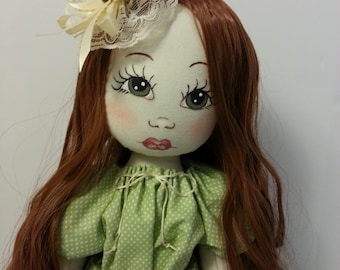 Cloth Doll, Art Doll, Soft Sculpture Doll, OOAK Doll