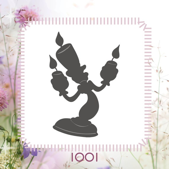 Beauty And The Beast Candlestick Lumi Re Stencil Or Wall Decal