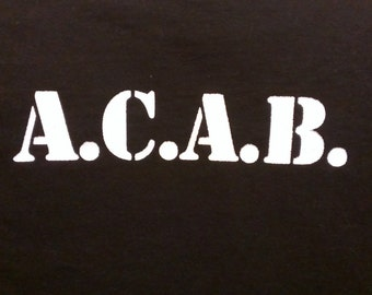 A.C.A.B. Screen Print Hoodie Sizes S-5XL