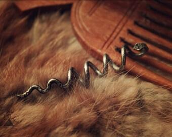 Snake Hair Bead • Viking Hair beads • Viking beard beads • Beard jewelry • Hair jewelry • Viking beads • Viking jewelry • Hair accessories