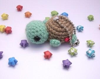 Turtle keychain- Crochet turtle, cute keychain,amigurumi turtle, gift ideas, kawaii, Phone lanyard, Crochet turtle plush