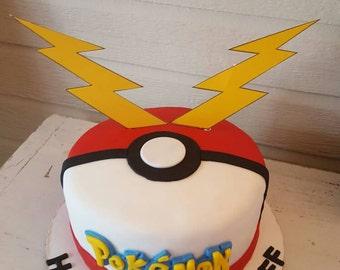 Pikachu Tail Cake Topper