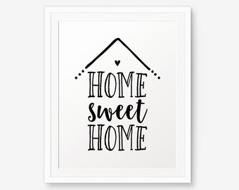 Home Sweet Home Wall Art home sweet home | etsy