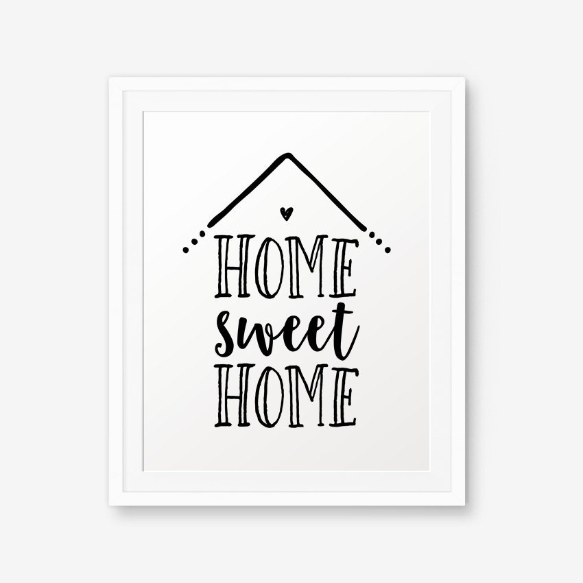 This is an image of Enterprising Home Sweet Home Printable