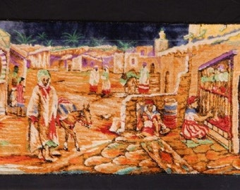 "Vintage Middle Eastern Tapestry (40"" x 20"")"