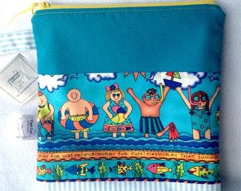 Waterproof bag, Cloth Diaper wet bag, Beach bag, Wetbag, Wet dry bag, Diaper wet bag, Swim bag, PUL, Zipper pouch, Nautical bag