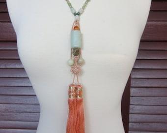 Vintage Chinese Tassel Necklace
