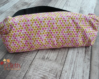 CLEARANCE SALE Baby Carrier Stuff Sack - Pouch - Babywearing - Pink and Yellow Triangle - Tula Ergo Beco Connecta Baby Bjorn SSC - Oraganize